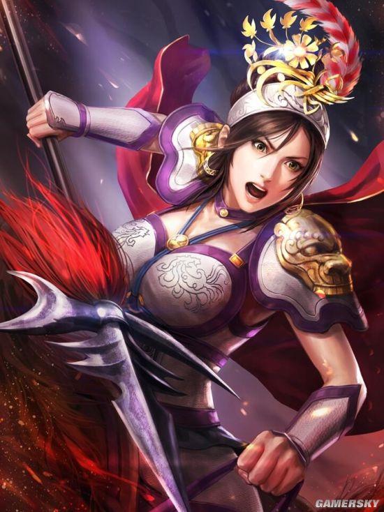 《三国志13加强版》武将高清立绘 吕布之女英武非凡