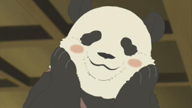 像是一只憨态可掬的熊猫呢