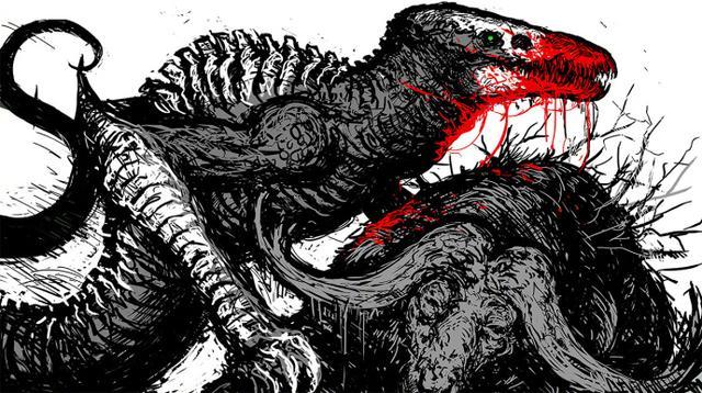 《金刚:骷髅岛》插画版海报走红