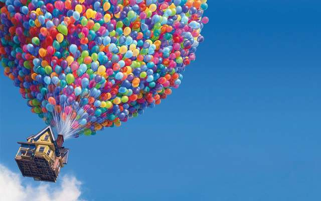 《飞屋环游记》的小伙伴应该对于电影当中气球带着老爷爷的整栋房子飞