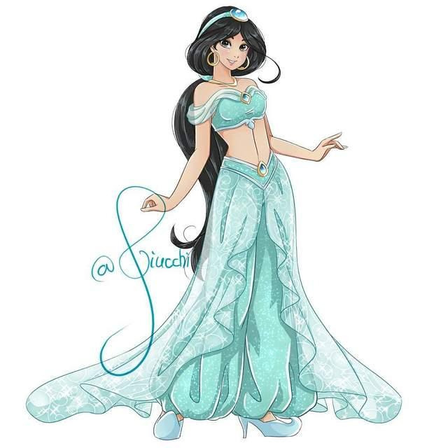 都是大眼妹 外网友画日系风迪士尼公主受好评