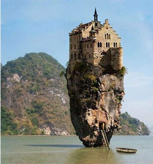 ▼爱尔兰古堡岛?错,德国的古堡,泰国的礁岩岛