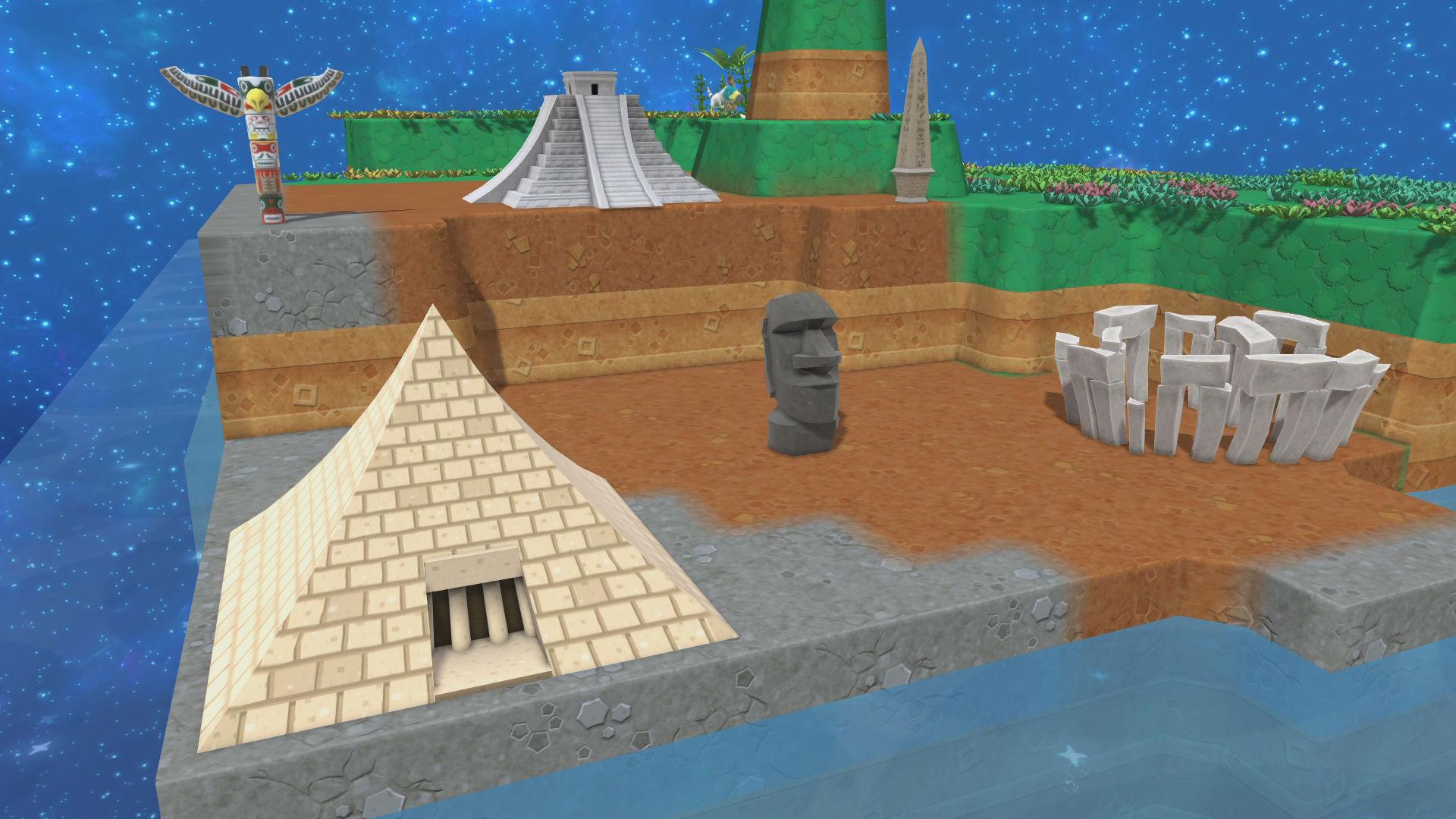 有金字塔,巨石阵,复活节岛雕像等.